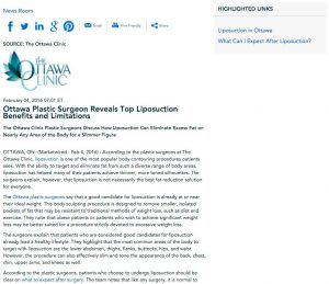 liposuction,ottawa plastic surgeons,what to expect after liposuction,the ottawa clinic